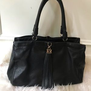 ESCADA large black tassel satchel handbag